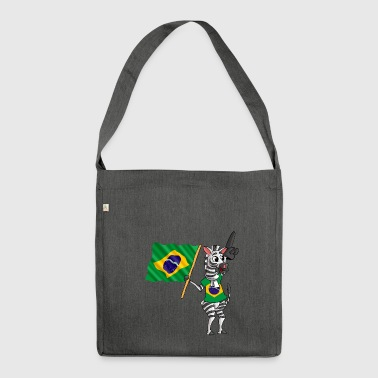 Brazilian zebra - Shoulder Bag made from recycled material