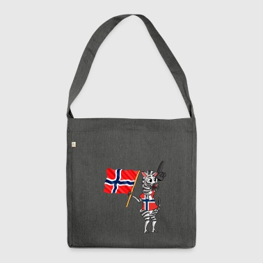 Norwegian zebra - Shoulder Bag made from recycled material