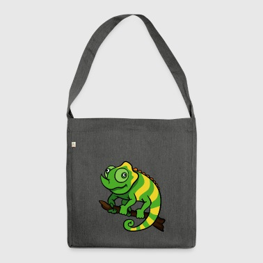 Chameleon reptiles - Shoulder Bag made from recycled material