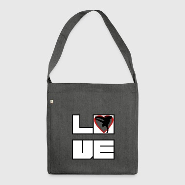 Love love breakdance bboy breakin - Shoulder Bag made from recycled material