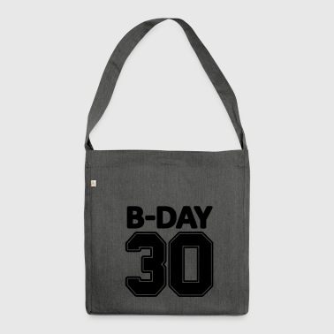 30th birthday number numbers jersey number - Shoulder Bag made from recycled material