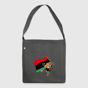 Libya fan dog - Shoulder Bag made from recycled material