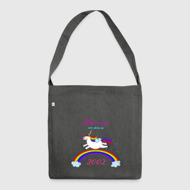 UNICORN NASCONO NEL 2002 UNICORNO REGALO DI NASCITA - Borsa in materiale riciclato