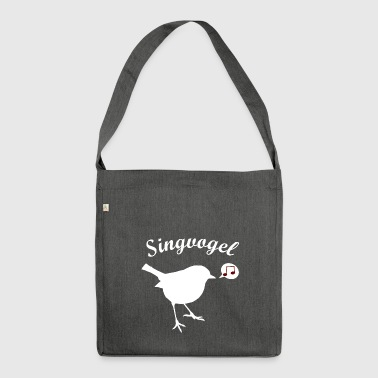 Singvogel - Schultertasche aus Recycling-Material