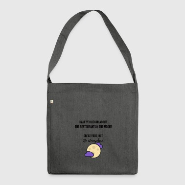 Restaurant on the moon - Shoulder Bag made from recycled material