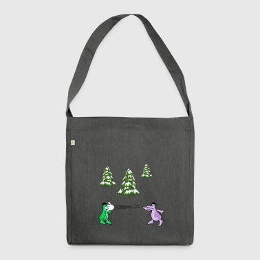 Snowball fight - Shoulder Bag made from recycled material