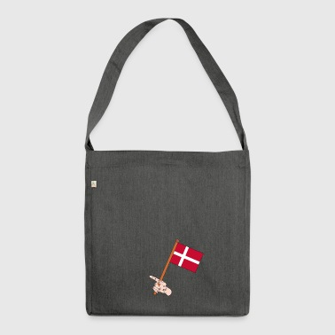 Danish flag - Shoulder Bag made from recycled material