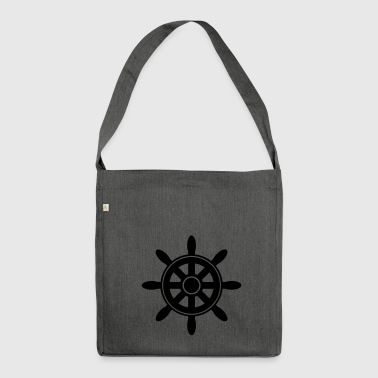 Steering Wheel Steering wheel - Shoulder Bag made from recycled material