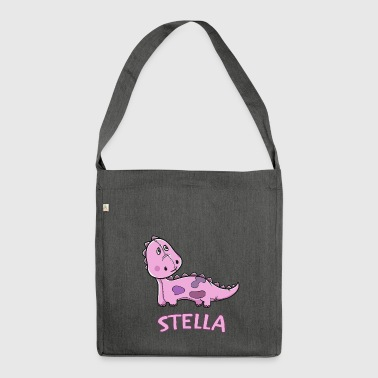 Dinosaur funny child Stella gift birthday - Shoulder Bag made from recycled material