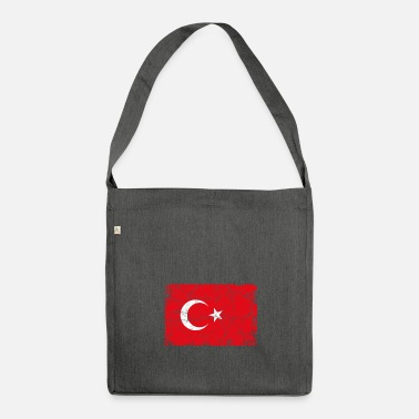 Turkish Turkey Turkish flag - Shoulder Bag made from recycled material