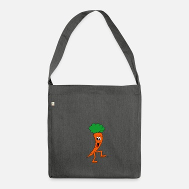 Carrot Carrot carrot carrot veggie - Shoulder Bag made from recycled material