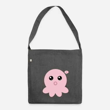 Kawaii Polipo rosa Kawaii - Borsa in materiale riciclato
