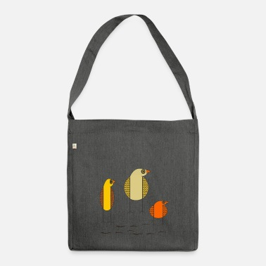 Bird birds - Shoulder Bag made from recycled material