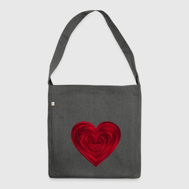 Hearts in Hearts - Shoulder Bag made from recycled material