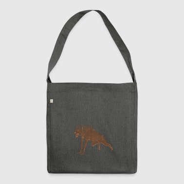 Aggressiver Wolf - Schultertasche aus Recycling-Material