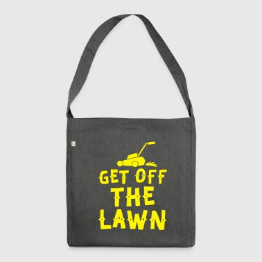 get off the lawn with lawn mower - Shoulder Bag made from recycled material