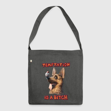 Temptation is a Bitch - Schultertasche aus Recycling-Material