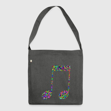 Key Button music key - Shoulder Bag made from recycled material