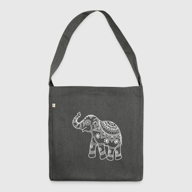 Decorated elephant - Shoulder Bag made from recycled material