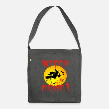 Creepy design for crazy halloweeners - Shoulder Bag made from recycled material