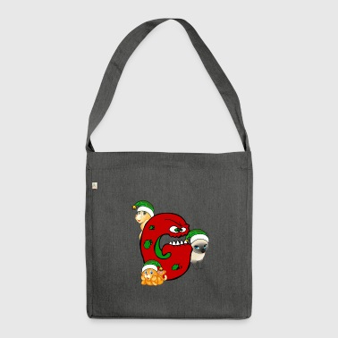 Cat Grinch gear Christmas - Shoulder Bag made from recycled material