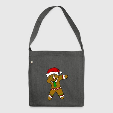 Dabbing Gingerbread Necktie Funny Xmas Holiday Pun - Shoulder Bag made from recycled material