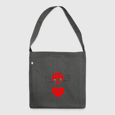 Truck driver - truck driver - tough guy lover - Shoulder Bag made from recycled material