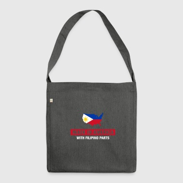 Made In America With Filipino Parts Philippines - Shoulder Bag made from recycled material