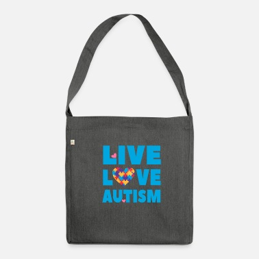 Educazione Autismo Awareness Autism - Live Love Autism - Borsa in materiale riciclato