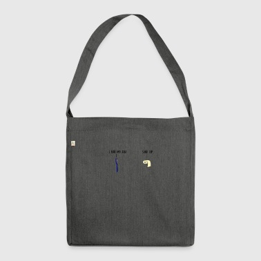 Dental toilet bathroom job - Shoulder Bag made from recycled material