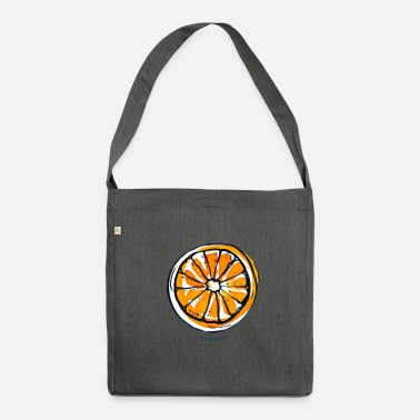 Fruit Fruit de fruit orange Fruit - Sac bandoulière 100 % recyclé