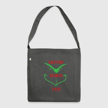 Grinch - Schultertasche aus Recycling-Material