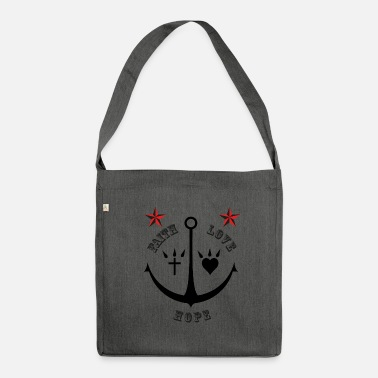 Rudeboy Faith love hope - Schultertasche aus Recycling-Material