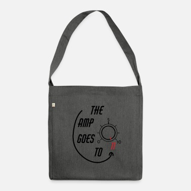Bassist &amp The Amp Goes To 11 - Shoulder Bag recycled