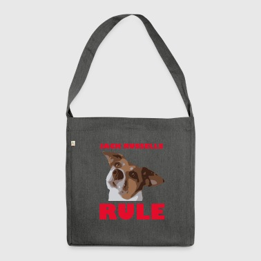 Jack russels rule2 red - Schultertasche aus Recycling-Material