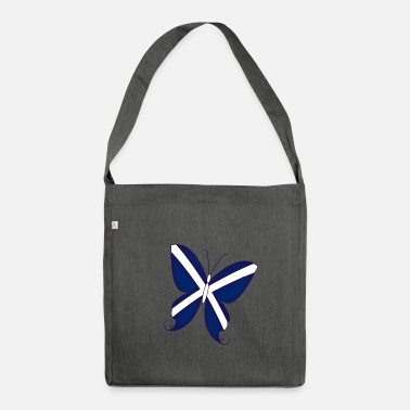 Scottish Scottish Butterfly - Shoulder Bag made from recycled material