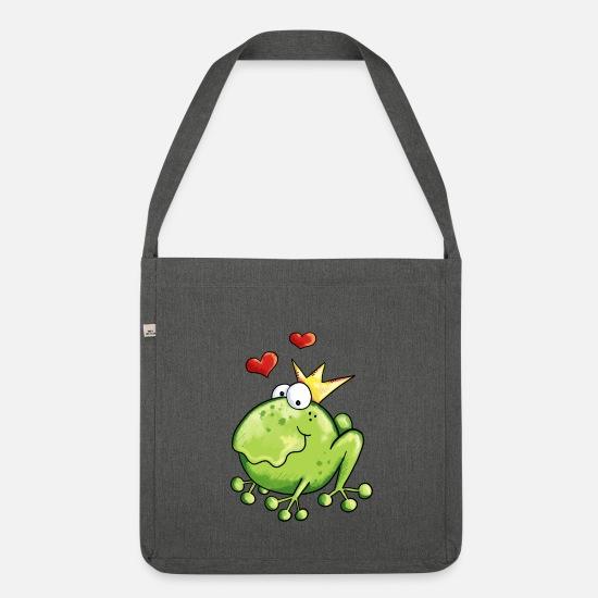 0015d24c538bd Frosch Taschen   Rucksäcke - Verliebter Frosch - Froschkönig - Liebe - Herz  - Umhängetasche aus