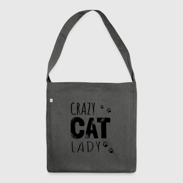 Crazy Cat Lady - Gift - Skuldertaske af recycling-material