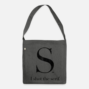 Font Font Font Serif - Shoulder Bag recycled