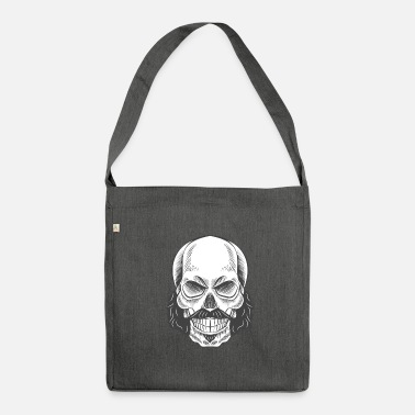 Whiskers Skull with whiskers - Shoulder Bag recycled