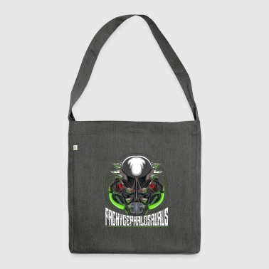 Cyborg Pachycephalosaurus Dinosaur Scifi - Shoulder Bag made from recycled material