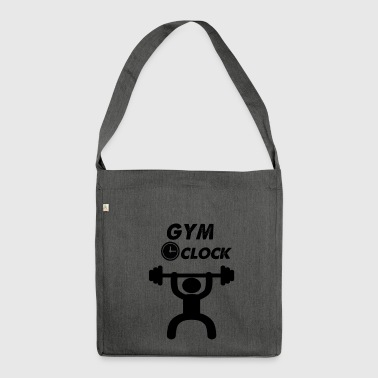 Fitnessstudio Uhr - Schultertasche aus Recycling-Material