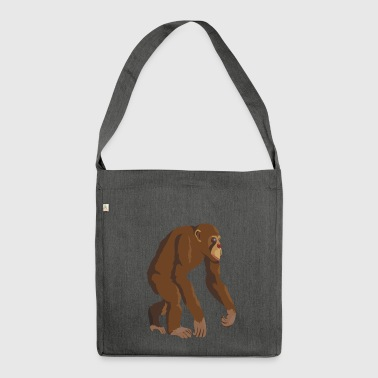 Chimpanzee! - Shoulder Bag made from recycled material
