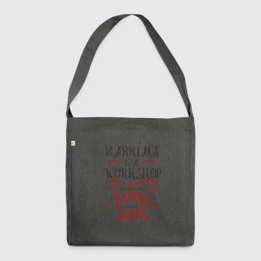 Wedding wife husband marriage love wedding day - Shoulder Bag made from recycled material