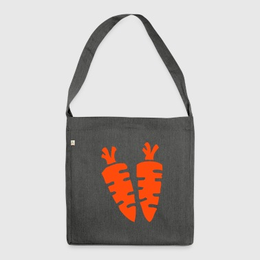 Carrot carrots carrot carrots vegan vegan vegetables - Shoulder Bag made from recycled material