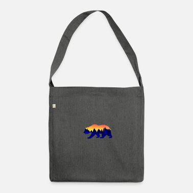 Scenic Landscape Bear Wild Grizzly Scenic - Shoulder Bag made from recycled material