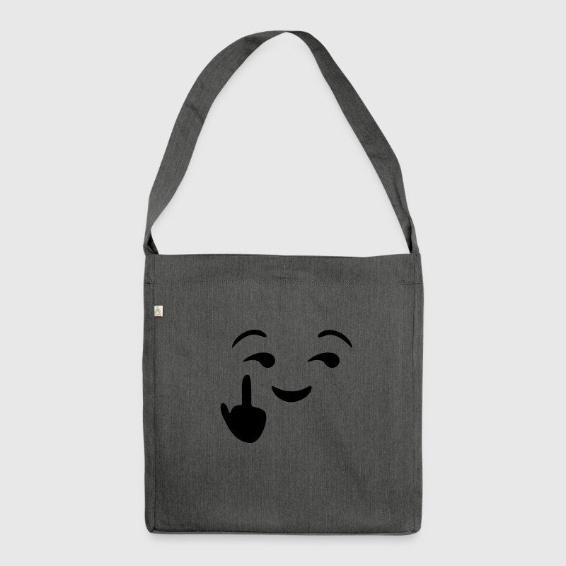Fuck you emoji - emoticon - smiley - Sac bandoulière 100 % recyclé