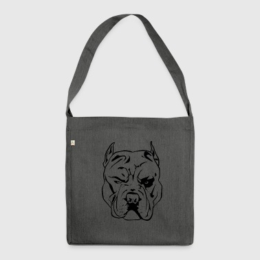 Aggressive Pitbull - Schultertasche aus Recycling-Material
