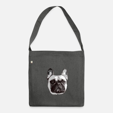 85bbddc8ee37b Französische Bulldogge Hund Hunde Hundesport - Umhängetasche aus  Recyclingmaterial