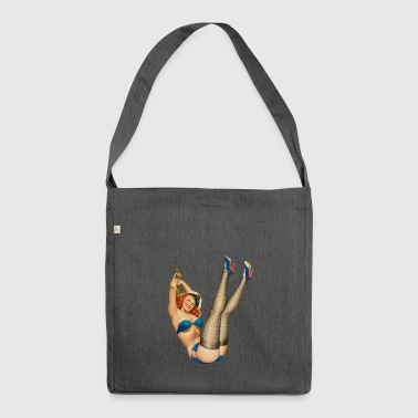 Navy pinup - Schultertasche aus Recycling-Material